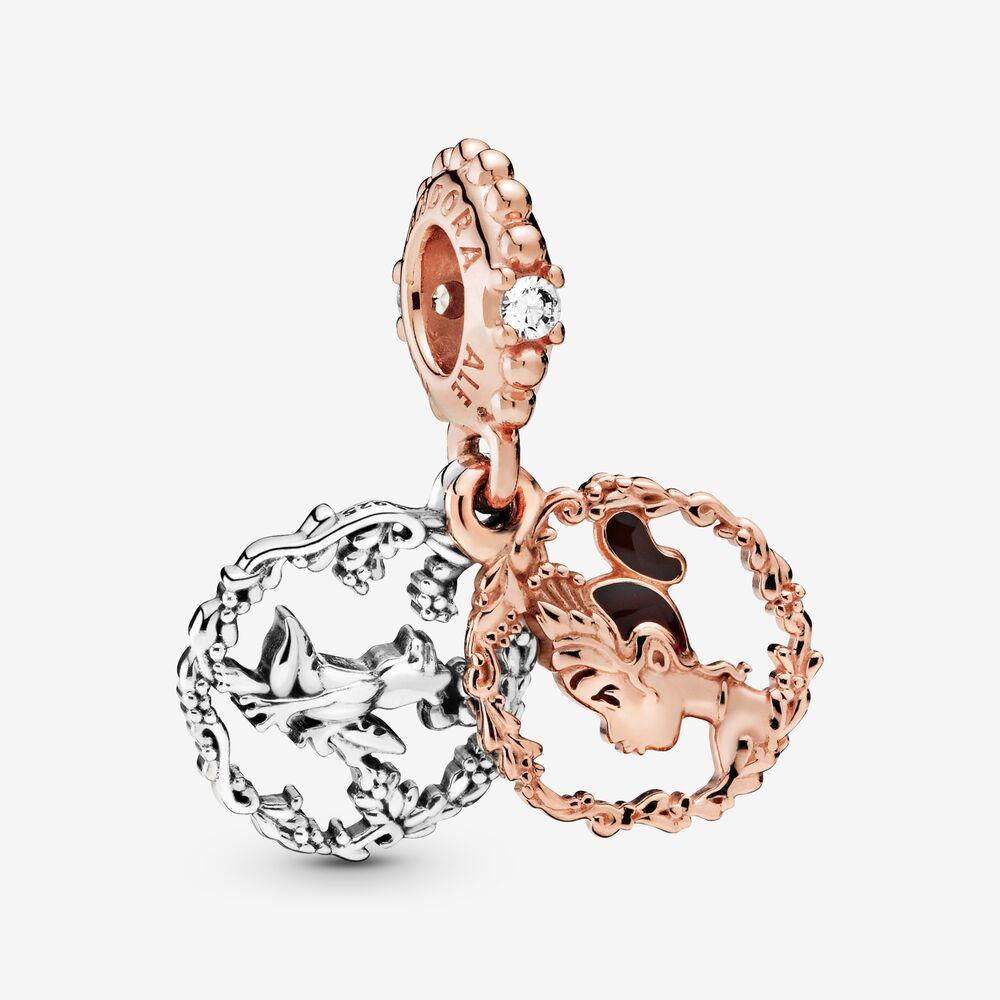 Il charm di Tiana e Naveen della collezione Pandora La principessa e il ranocchio.