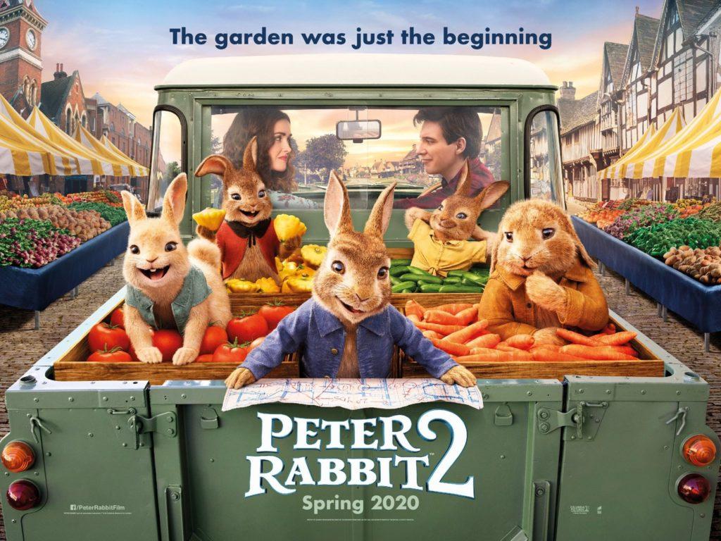 Il poster in lingua originale di Peter Rabbit 2 - The Runaway, al cinema nel 2020.