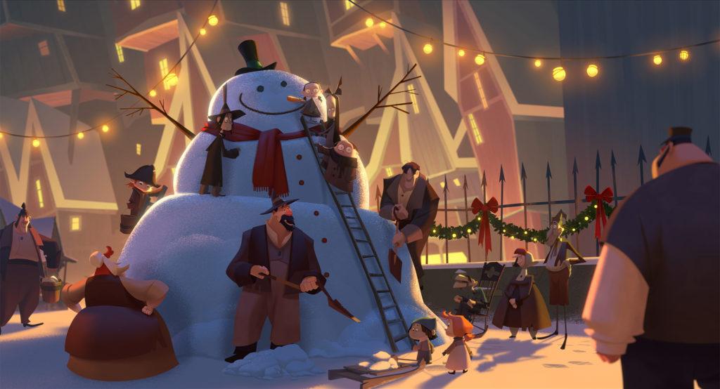 Un'immagine da Klaus - I segreti del Natale, ora disponibile in esclusiva su Netflix.