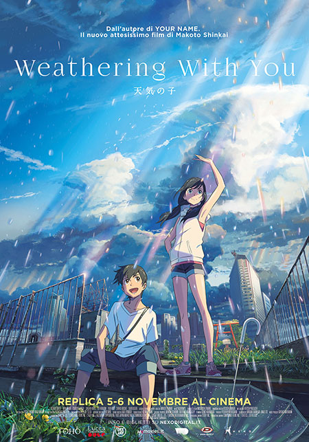 Poster Weathering with You di Makoto Shinkai cinema replica 5 6 novembre