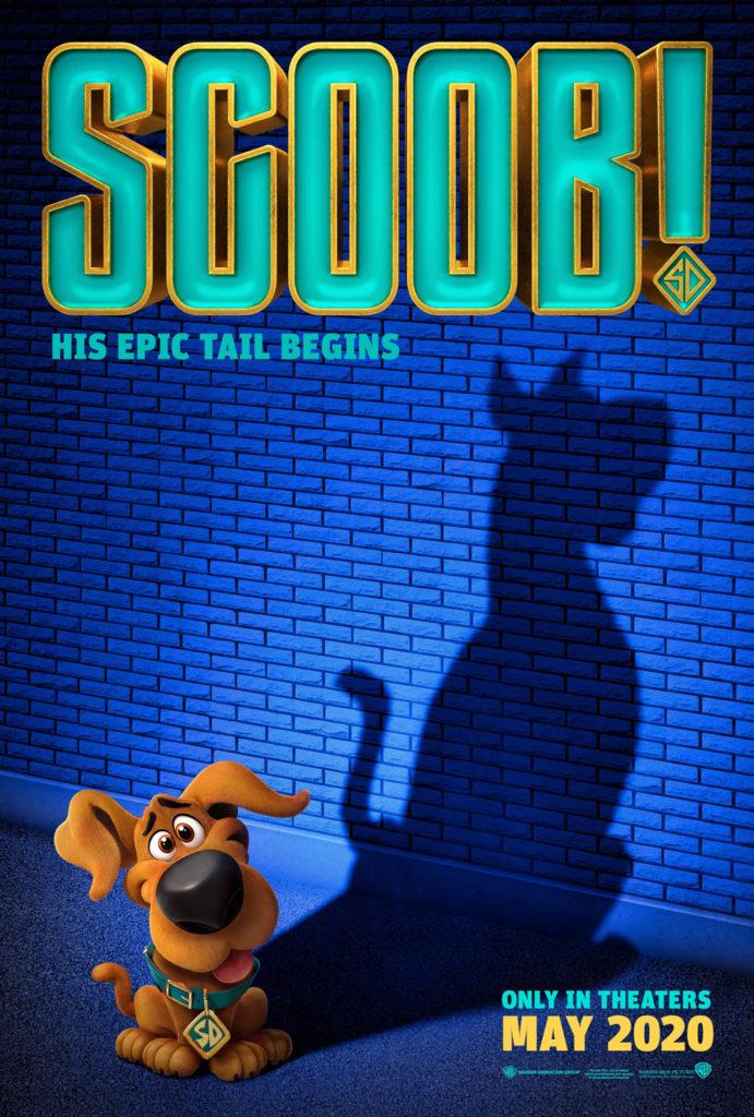 Il poster del nuovo film animato di Scooby Doo, intitolato in italiano SCOOBY!