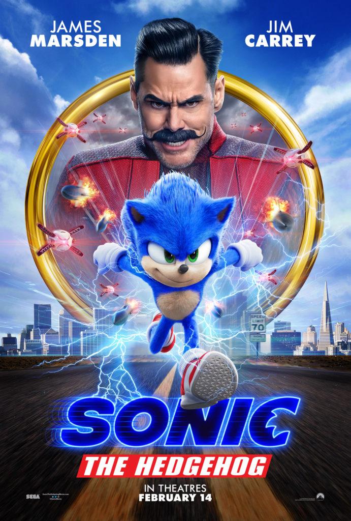 Il nuovo poster di Sonic Il film con il redesign del personaggio.