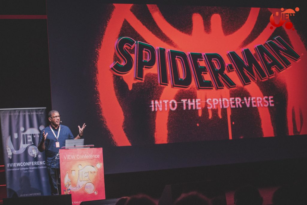 Peter Ramsey a VIEW Conference 2019 presenta Spider-Man: Into the Spider-Verse.