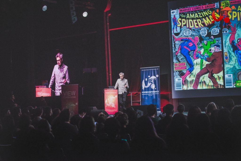 Danny Dimian presenta le sfide di Spider-Man: Un nuovo universo a VIEW Conference 2019.