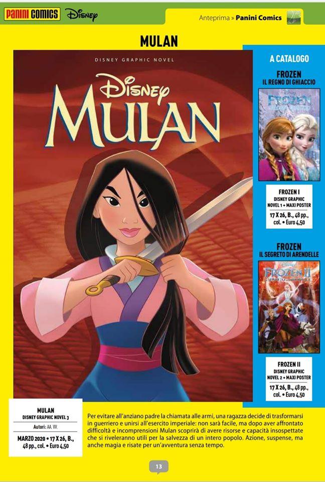 A marzo 2020 è in arrivo in edicola e fumetteria la graphic novel di Mulan.