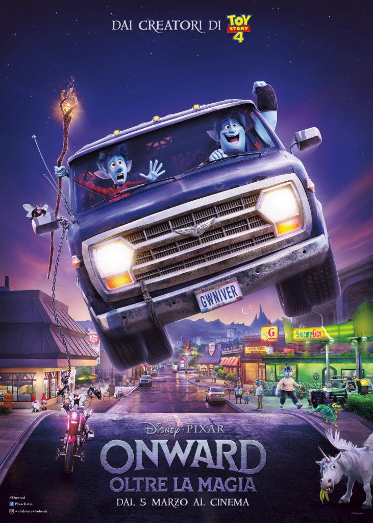 Il nuovo poster di Onward, il film Pixar in uscita il 5 marzo.