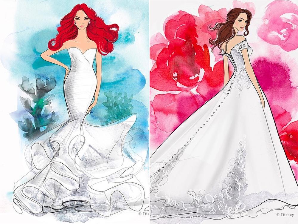 Abiti Da Sposa Walt Disney.Disney Fairy Tale Wedding La Linea Degli Abiti Da Sposa Ispirati