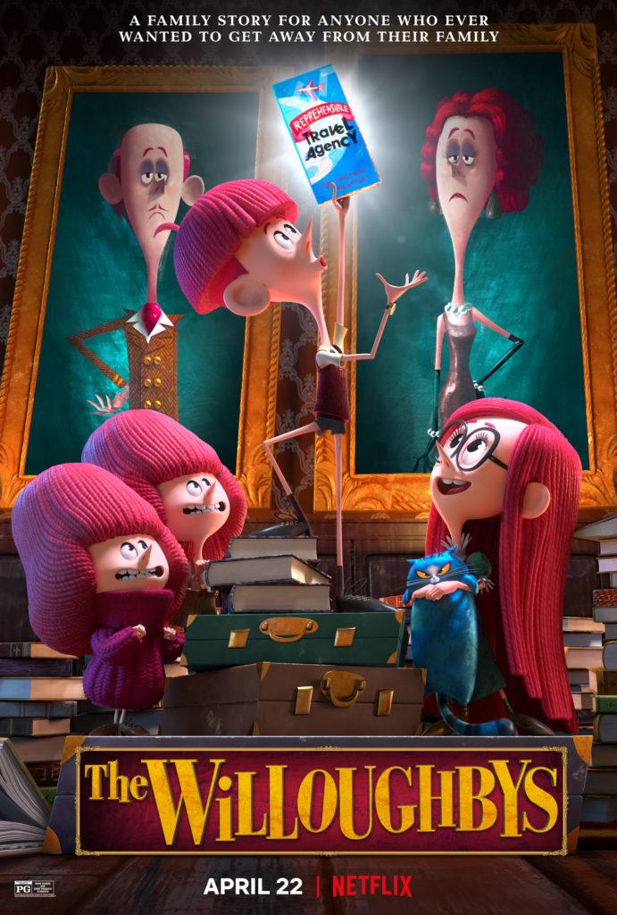 Il poster di The Willoughbys, il nuovo film d'animazione originale Netflix.