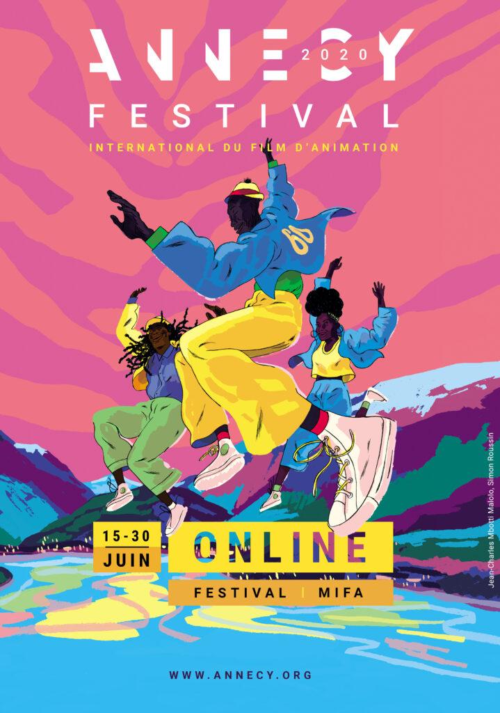Il poster dell'edizione 2020 dell'Annecy Festival.