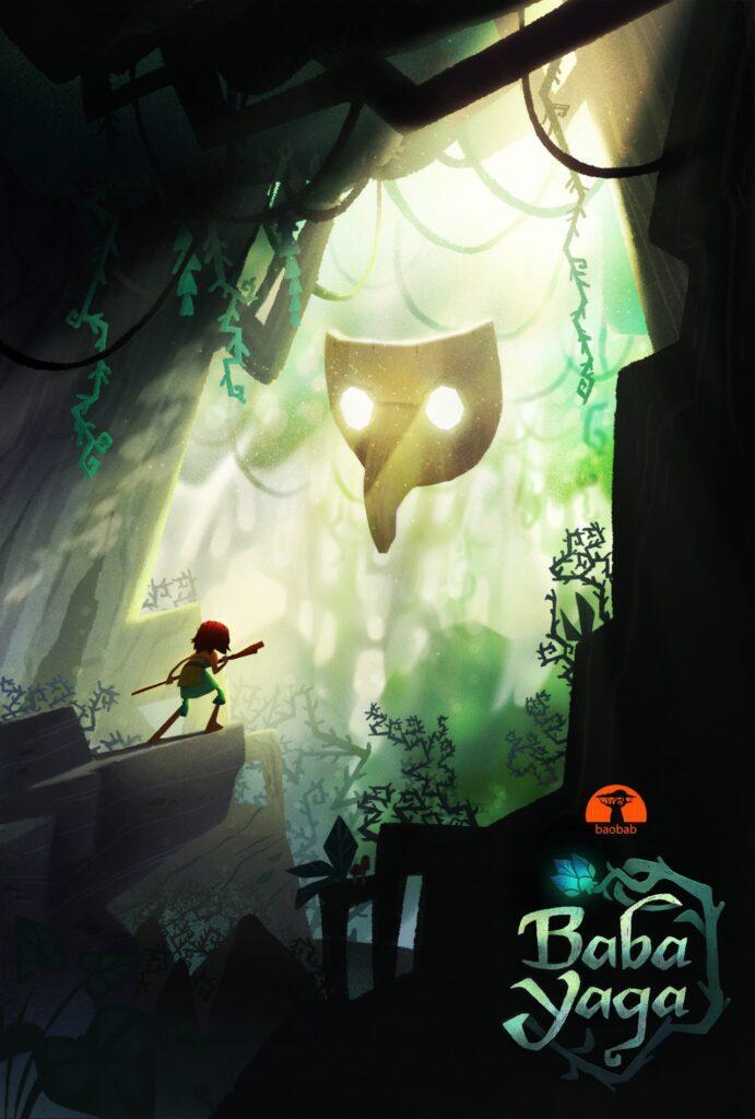 Il poster del nuovo corto in virtual reality di Baobab Studios, Baba Yaga, con la voce di Daisy Ridley.
