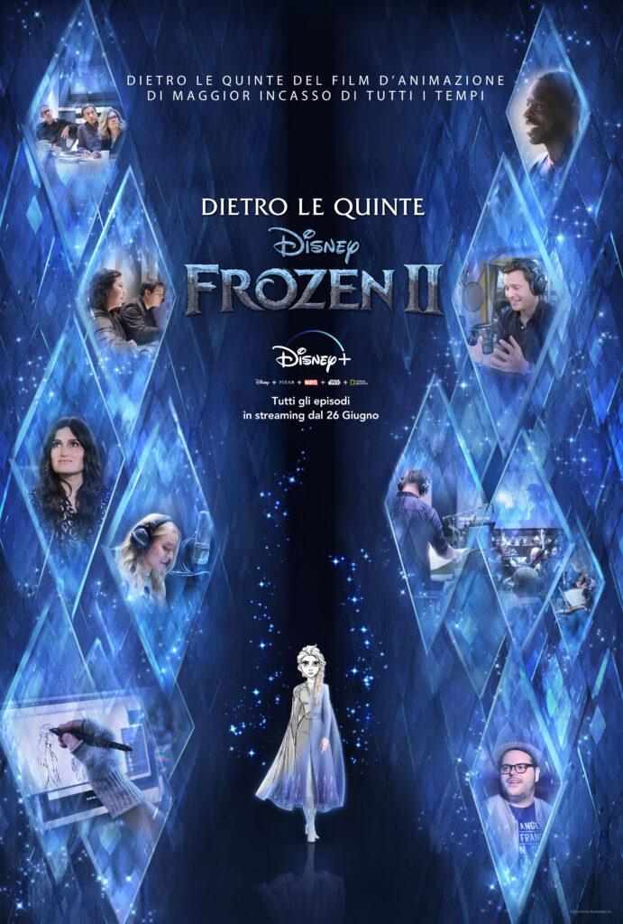 Il poster di Frozen 2 Dietro le quinte, la nuova docuserie di Disney+.