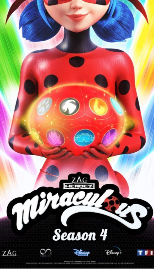 Il poster della quarta stagione di Miraculous, in arrivo a fine 2020.