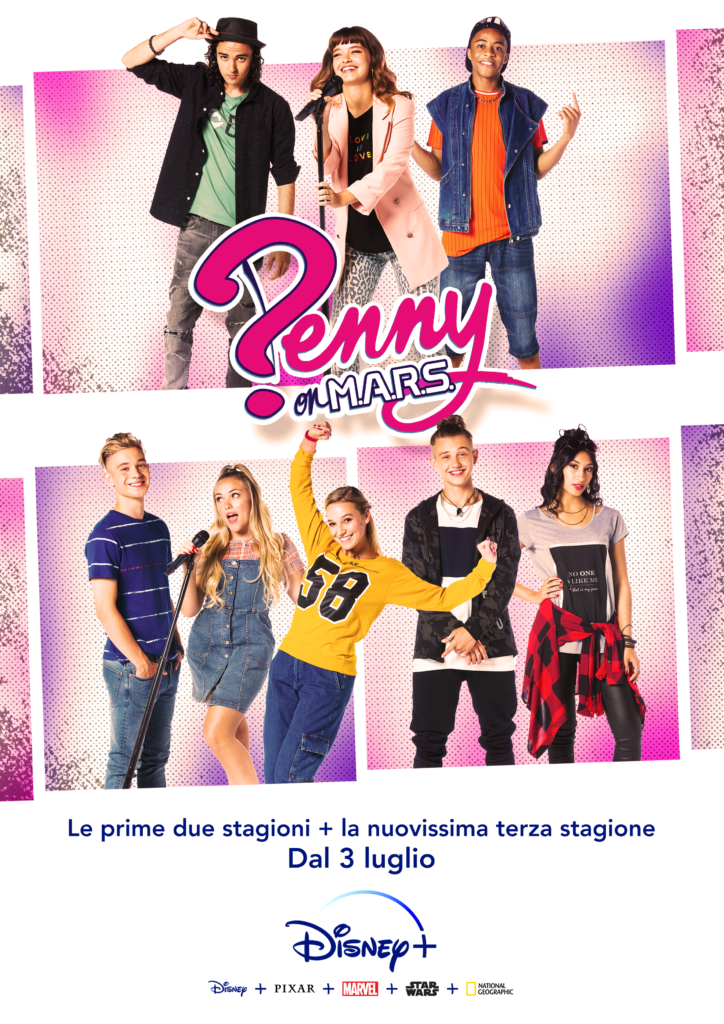 Il poster della terza stagione di Penny On MARS, in arrivo su Disney+.