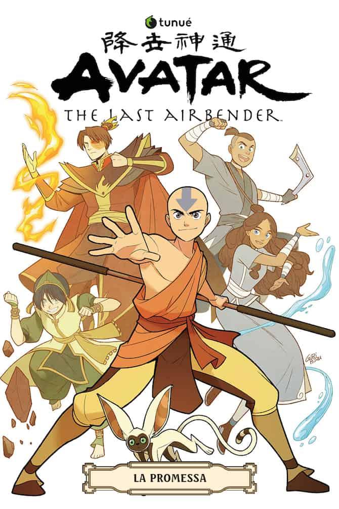 La copertina di Avatar La promessa in arrivo in Italia grazie a Tunué.
