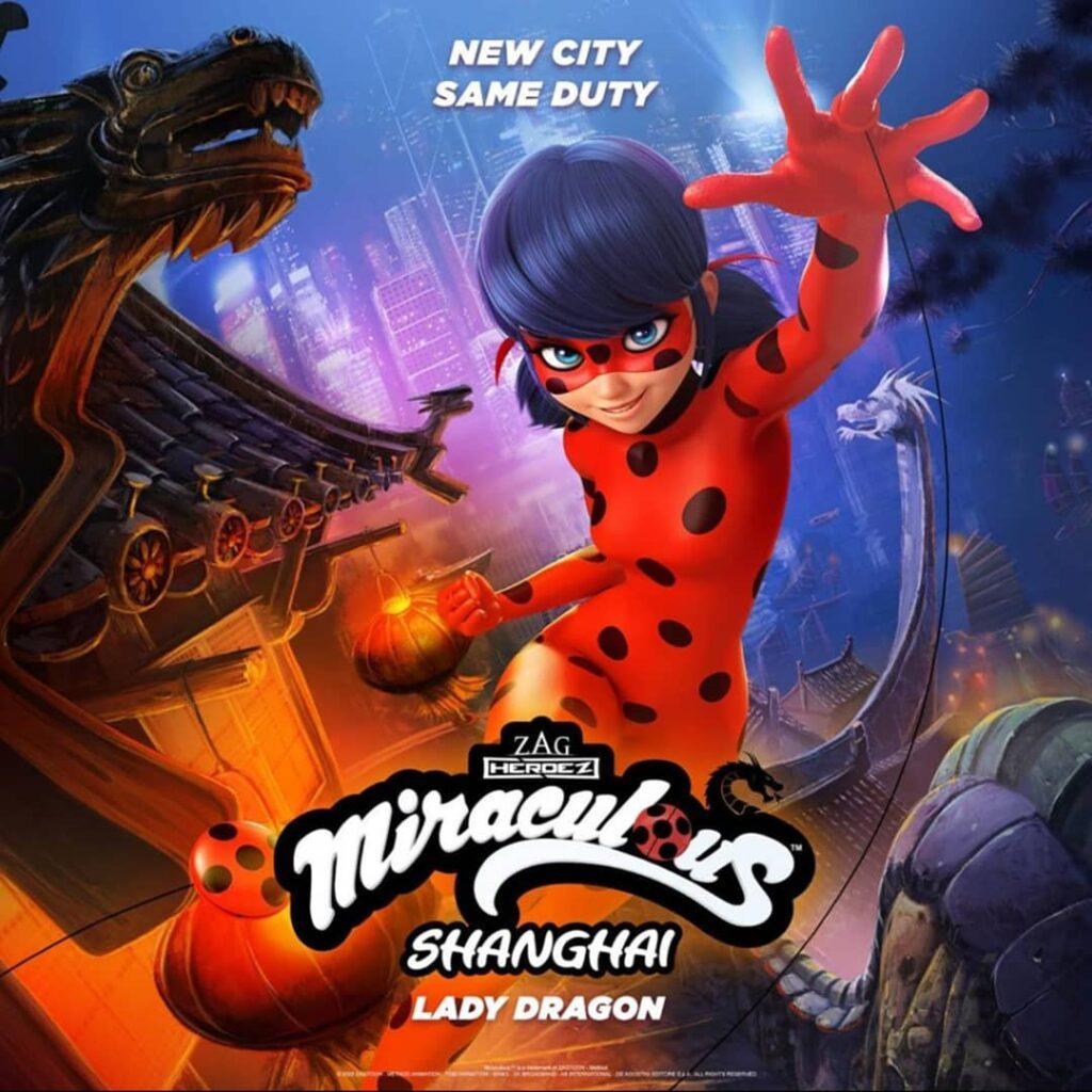 Il poster dell'episodio speciale di Miraculous ambientato a Shanghai.