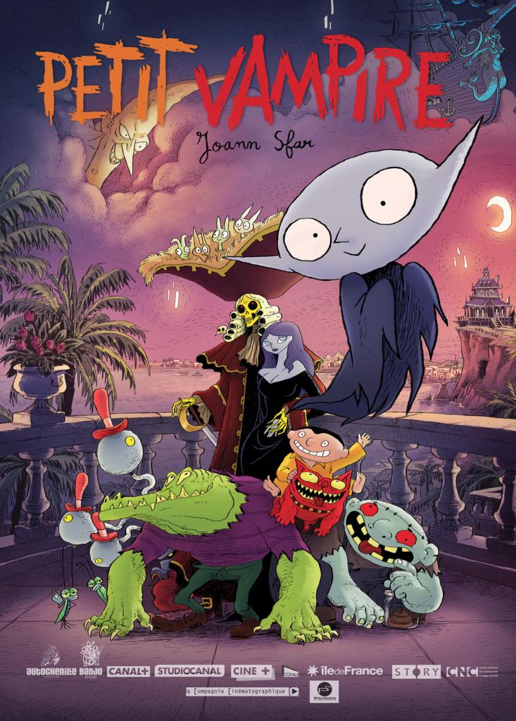 Il poster di Piccolo Vampiro di Joann Sfar, in uscita in Francia in autunno.