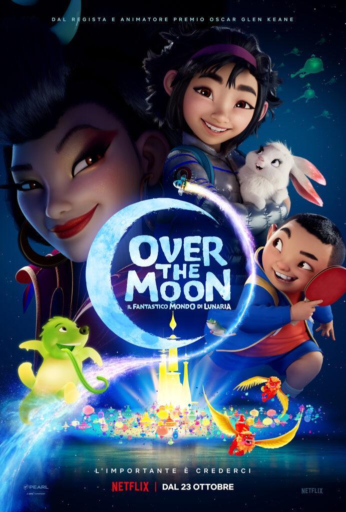 Il nuovo poster italiano di Over the Moon, in arrivo su Netflix.