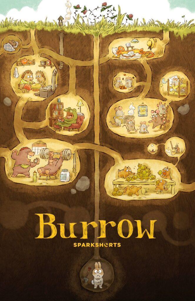 Il poster del nuovo corto Pixar Burrow, al cinema con Soul a novembre.