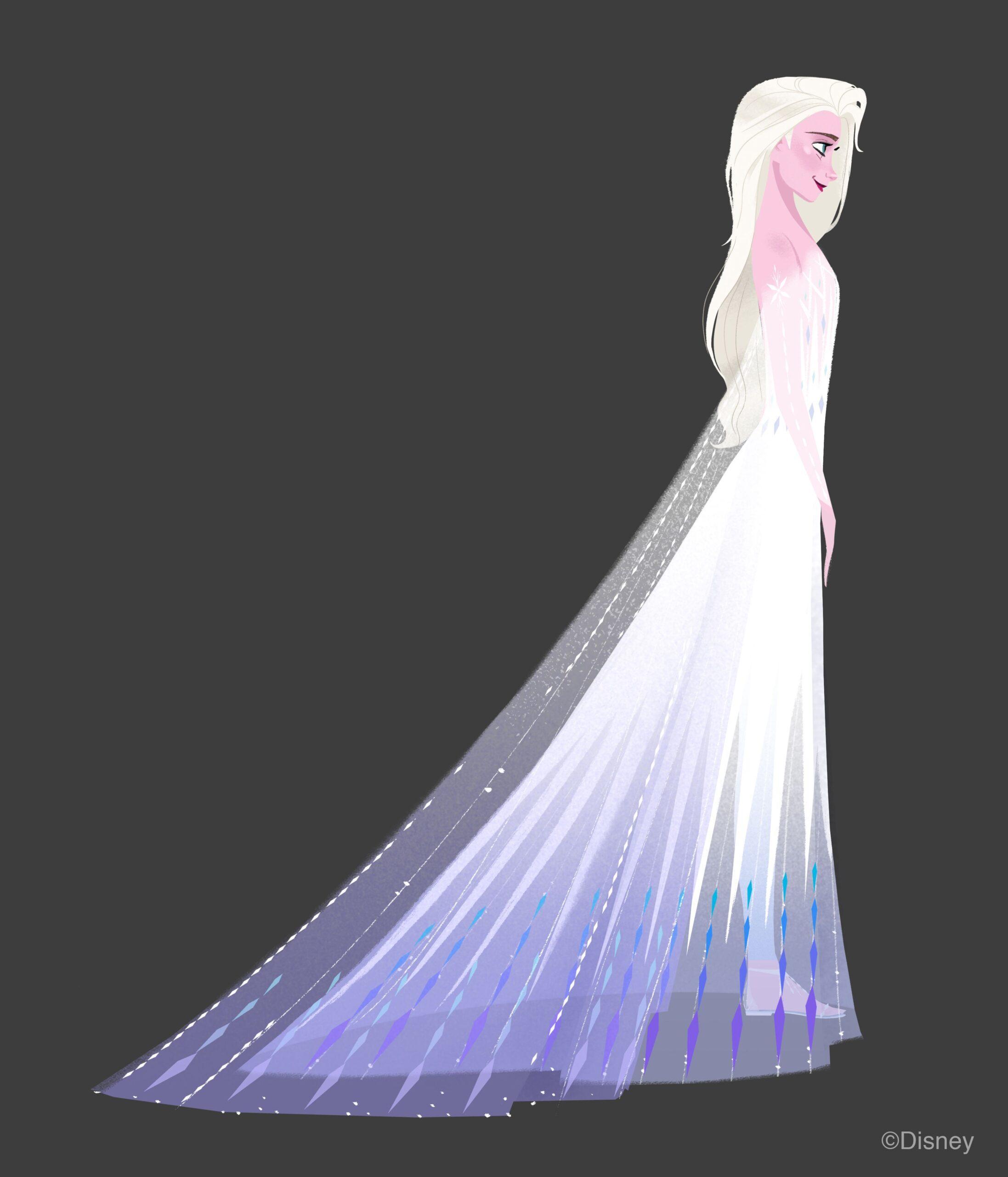 Bozzetto per l'abito finale di Elsa