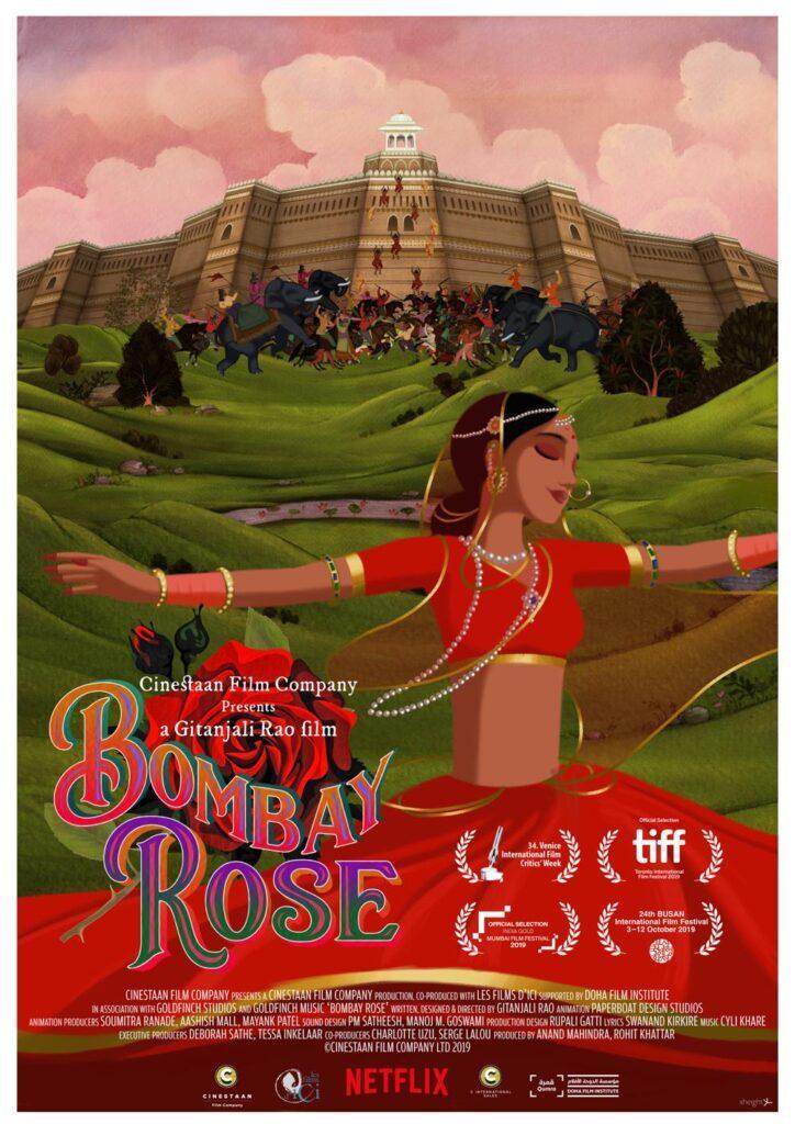Il poster di Bombay Rose, in arrivo il 4 dicembre su Netflix.
