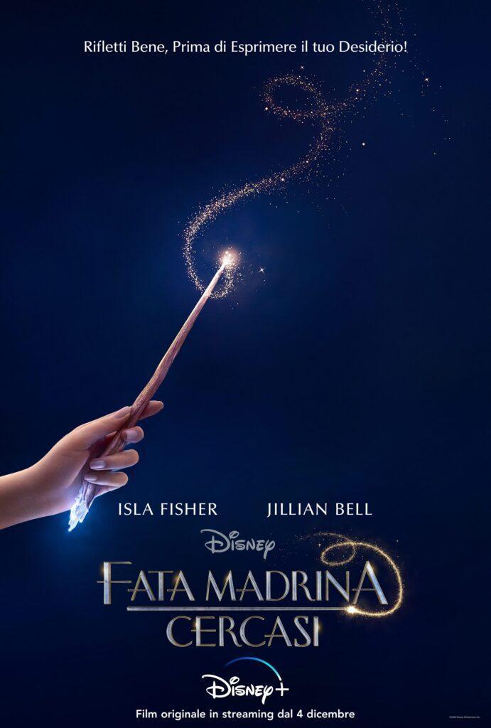 Il poster italiano di Fata Madrina Cercasi, in arrivo il 4 dicembre su Disney+.