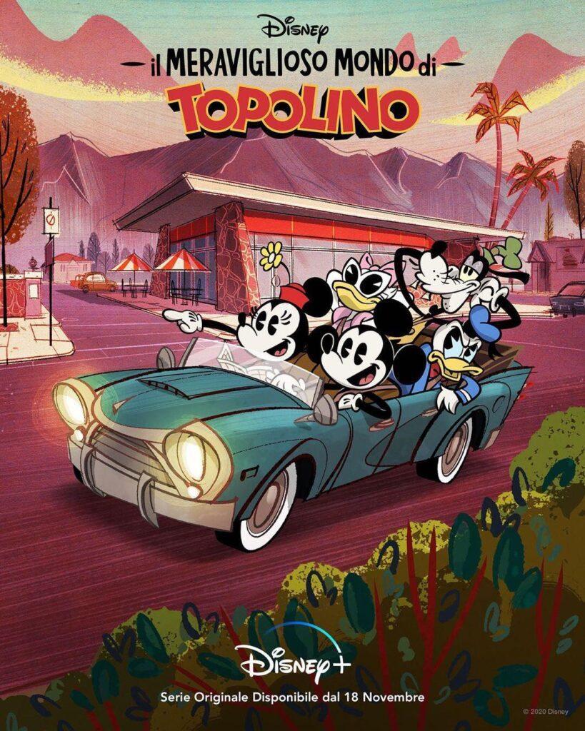 Poster della nuova serie Il meraviglioso mondo di Topolino in arrivo su Disney+.