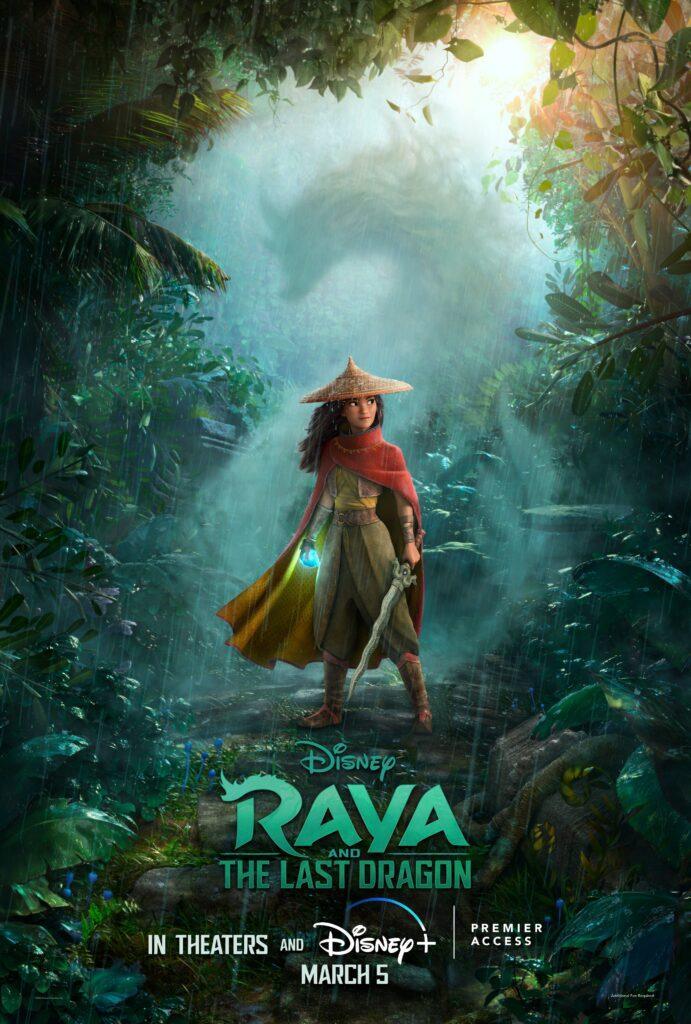 Il nuovo poster di Raya e l'ultimo drago.