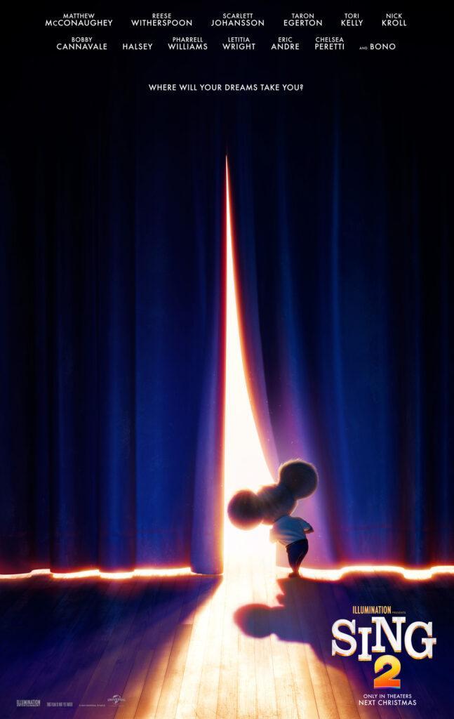 Il poster di Sing 2 di Illumination Entertainment.