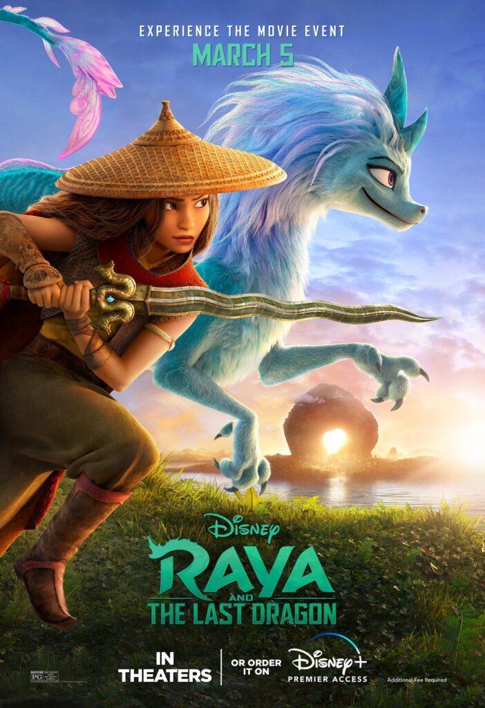 Il nuovo poster di Raya e l'ultimo drago, il prossimo film Disney Animation.