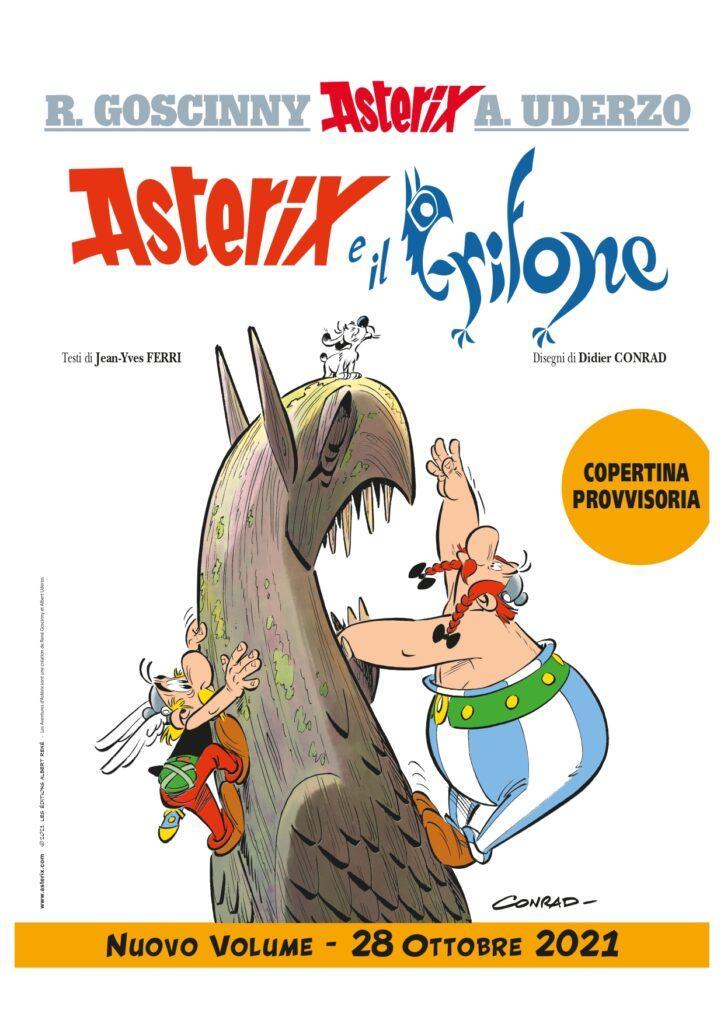 La cover provvisoria di Asterix e il Grifone, in arrivo a ottobre.