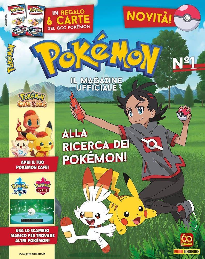 La cover del primo numero del nuovo magazine dei Pokémon in occasione dei 25 anni del brand.