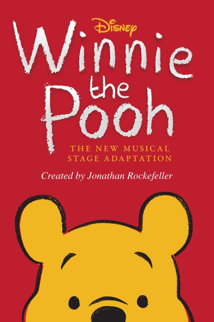 Il poster del nuovo spettacolo musicale di Winnie the Pooh in scena a New York nell'autunno 2021.