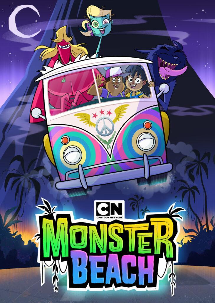 La locandina di Monster Beach, la nuova serie in onda su Cartoon Network.