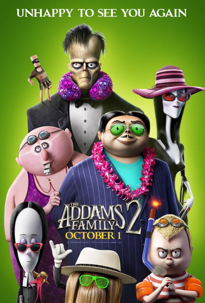 Il poster di La famiglia Addams 2, al cinema a ottobre 2021.