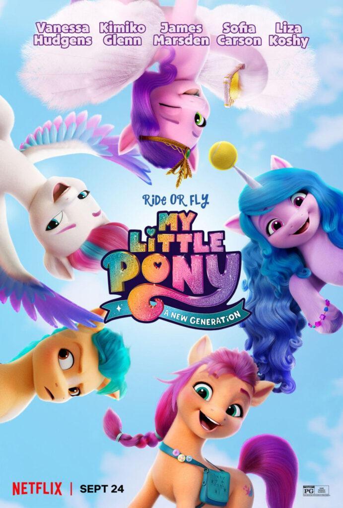 Il poster ufficiale di My Little Pony: A New Generation, a settembre su Netflix.