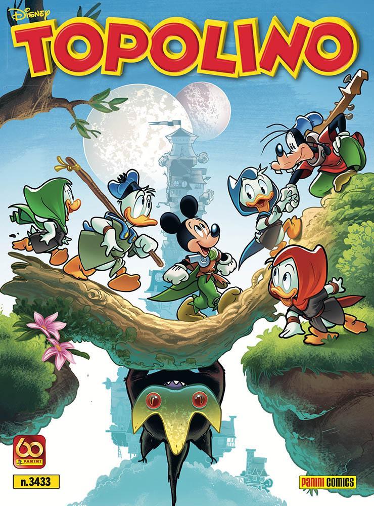 La copertina di Topolino 3433 dedicata alla saga fantasy Ducktopia